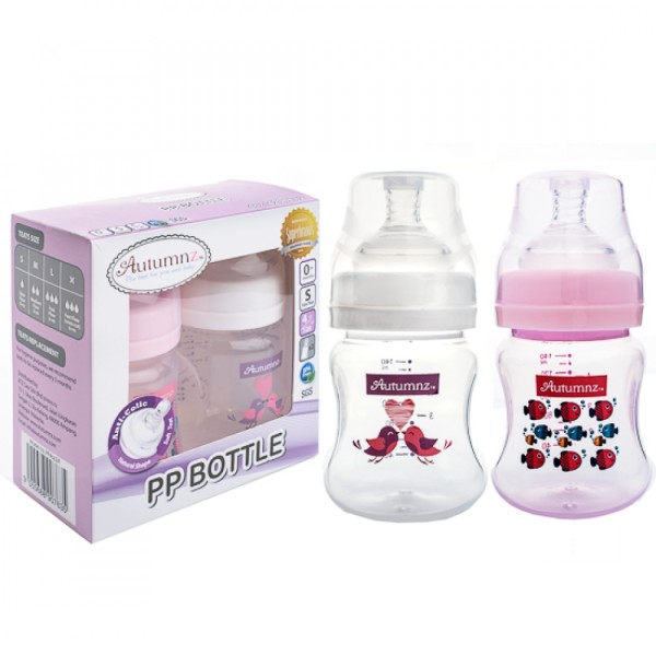AUTUMNZ PP Wide Neck Feeding Bottle 4oz/120ml 8oz/240ml (Twin Pac - Baby Care Malaysia
