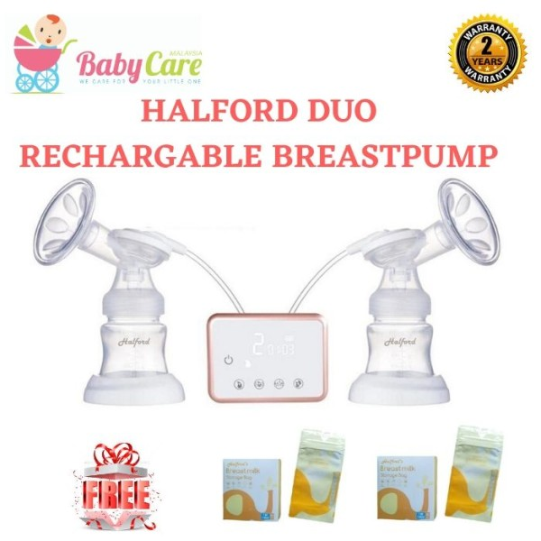 HALFORD Duo Rechargeable Breast Pump - Baby Care Malaysia