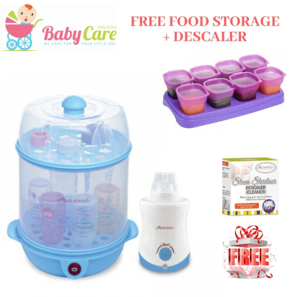 AUTUMNZ 2-in-1 Steriliser / Steamer + Home & Car Warmer Combo (Bl - Baby Care Malaysia