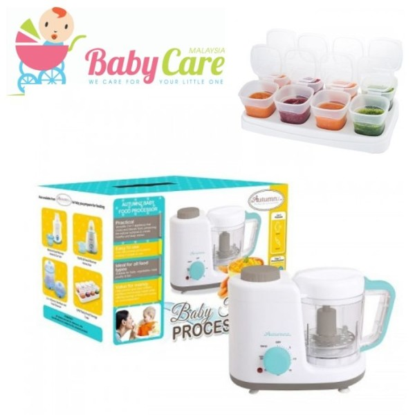 Autumnz 2-in-1 Baby Food Processor (Steam & Blend) *TURQUOISE* - Baby Care Malaysia