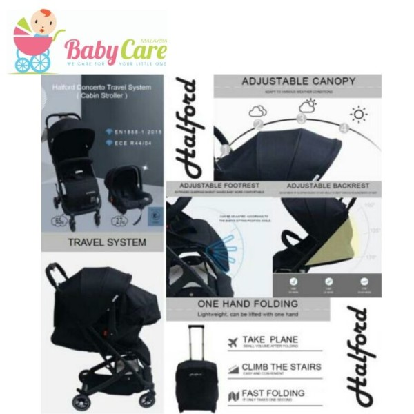 Halford Concerto Travel System (Cabin Size Stroller) (Free Halfor - Baby Care Malaysia