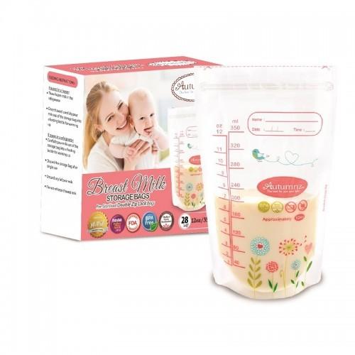 Autumnz Double ZipLock Breastmilk Storage Bag (28 bags) *12oz* - Baby Care Malaysia