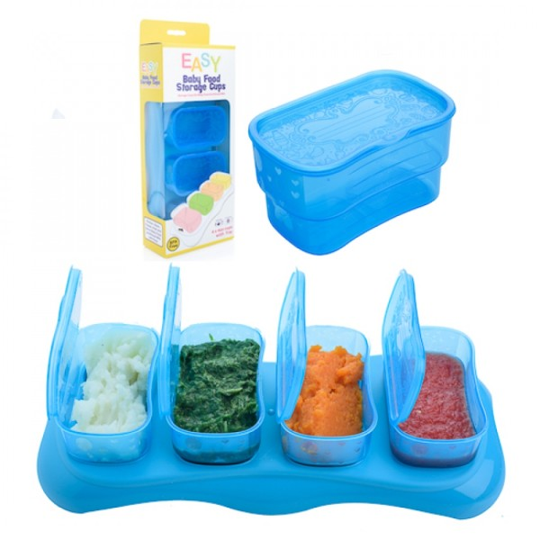 Autumnz EASY Breastmilk & Baby Food Storage Cups (4oz Ocean Blue) - Baby Care Malaysia