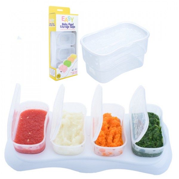 Autumnz EASY Breastmilk & Baby Food Storage Cups (4oz Clear) - Baby Care Malaysia
