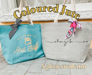 Personalised Coloured Jute