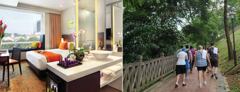 Park Regis Singapore has a wellness package that includes a guided heritage trail – it wasn't what we expected