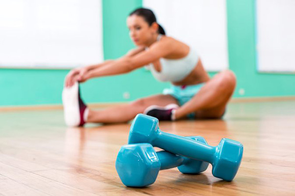 Building-a-mini-workout-corner-weights