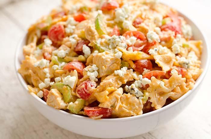 easy-pasta-salad-recipes-buffalo-chicken-pasta-salad