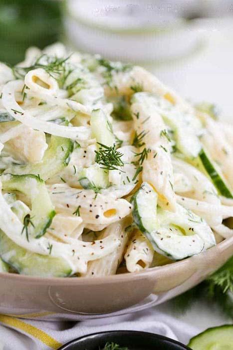 easy-pasta-salad-recipes-creamy-cucumber-pasta-salad