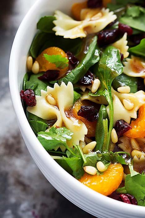 easy-pasta-salad-recipes-mandarin-pasta-spinach-salad-with-teriyaki-dressing