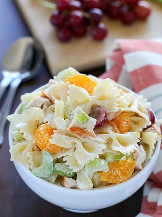easy-pasta-salad-recipes-tropical-chicken-bowtie-salad