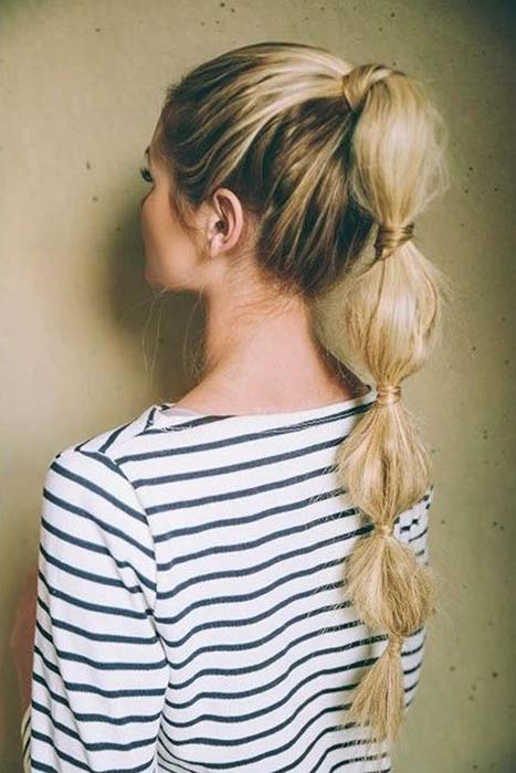 gym-hairstyles-bubble-ponytail