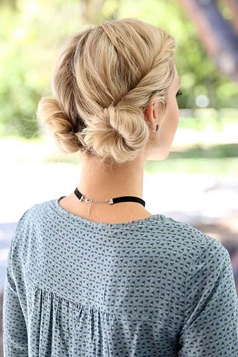 gym-hairstyles-low-pigtail-buns