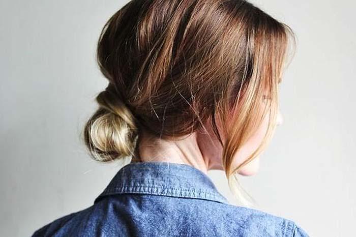 gym-hairstyles-messy-low-bun