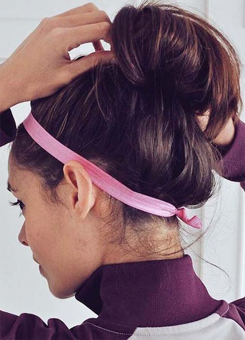 gym-hairstyles-topknot