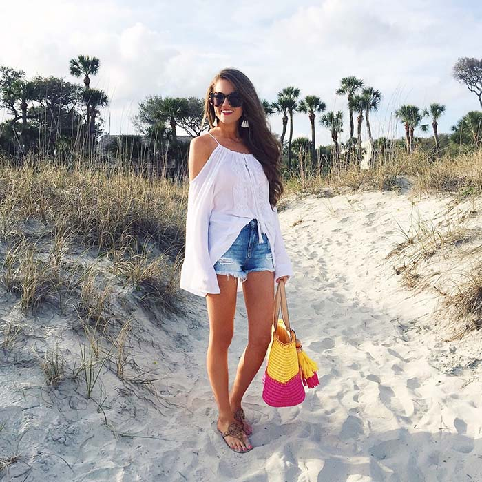 how-to-style-denim-shorts-sandals