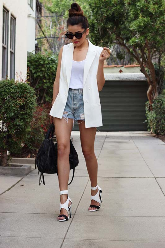 how-to-style-denim-shorts-vest