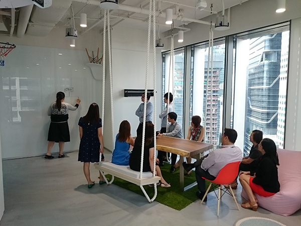 Best-offices-in-Singapore-with-workout-facilities-danone