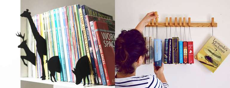 30 creative ways to display your books at home