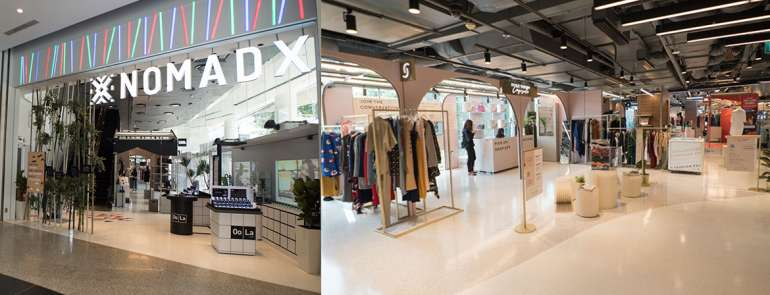 NomadX, where physical meets digital: touch and feel products from online-only stores like Taobao, and bag 'em up right away