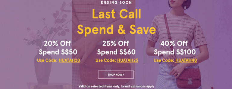 LIMITED TIME- 20% off on ZALORA