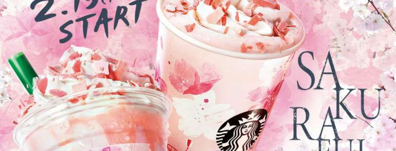 Sakura-themed mechandise and drinks from Starbucks?! Find out where to get hold of them