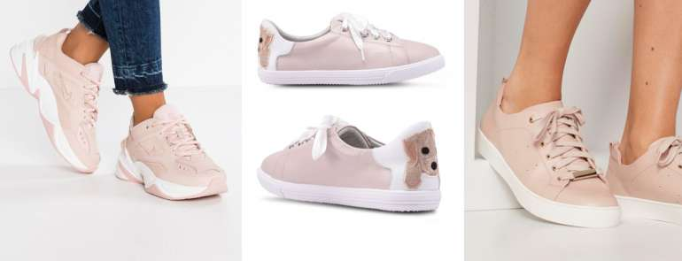 13 nude and champagne sneakers to complete any outfit
