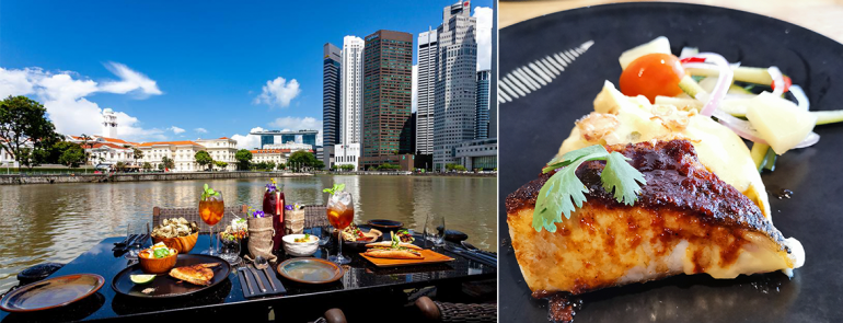 This restaurant serves catch of the day from fishermen in Pulau Ubin and offers an amazing Singapore River view