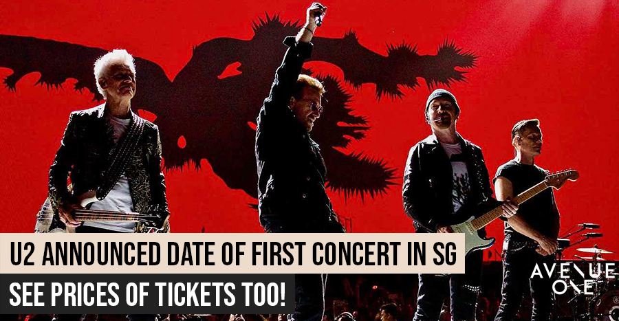 U2 announces date of first concert in Singapore - mark your