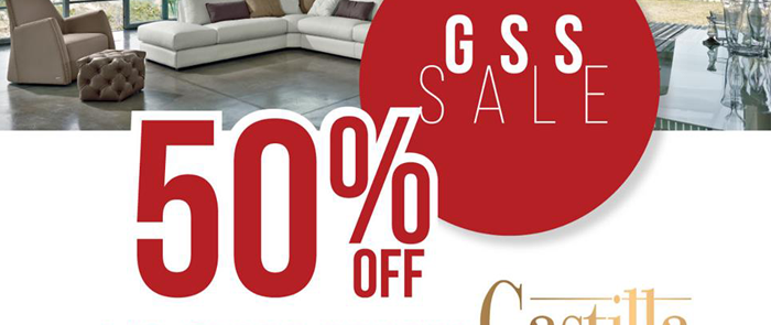 Enjoy up to 50% off Castilla's Europe-imported sofas this GSS