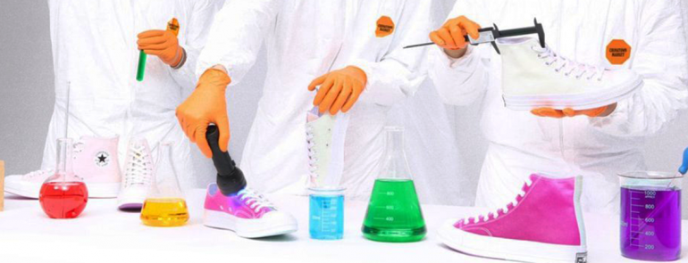 Converse is releasing UV-activated shoes that change colours. Watch how they transform