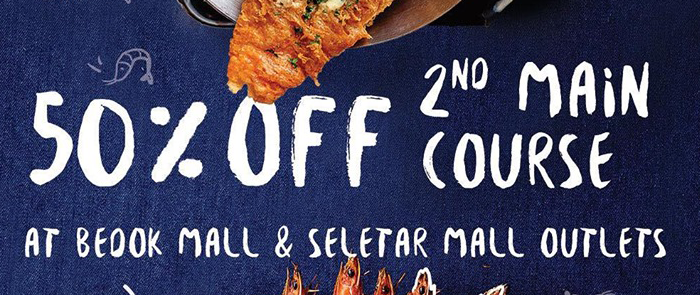 Take 50% off your second main course at Fish & Co. all day, every day!
