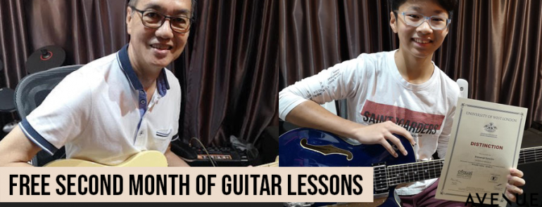 Get your second month of guitar classes for FREE at Guitar Emerge – now till 30 September 2019