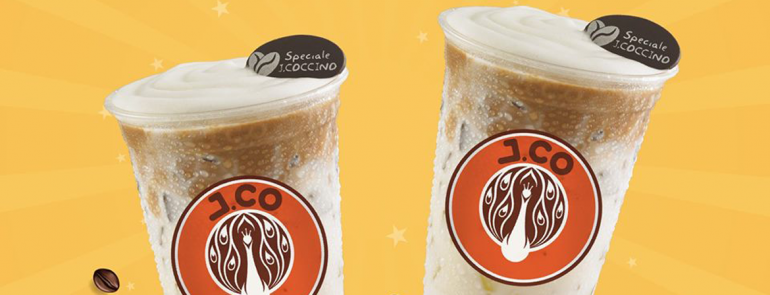 Buy one get one free for ALL beverages at J.CO Raffles City and Paya Lebar Square