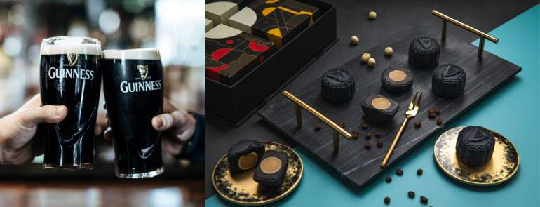 These black mooncakes look every bit chic and they're infused with stout beer