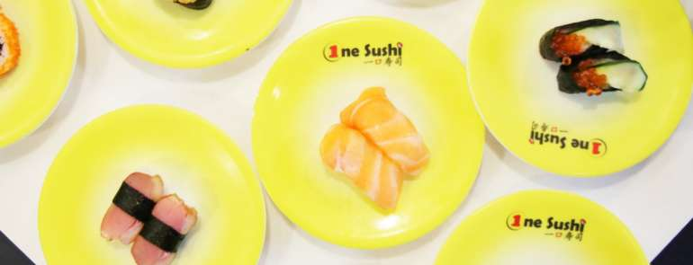 Enjoy sushi at only 70 cents per plate from One Sushi