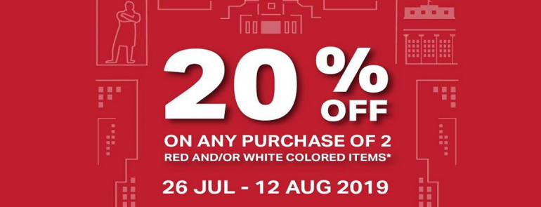Enjoy 20% off when you purchase 2 selected red/white items at Under Armour