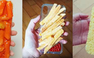These 3D food phone cases look so real, you will definitely feel hungry