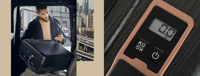 This new smart luggage is designed to solve all your travelling problems, including a built-in feature to weigh itself!
