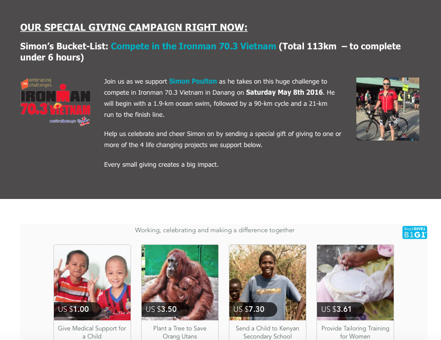 CAMPAIGNS: Making 'Giving' Personal