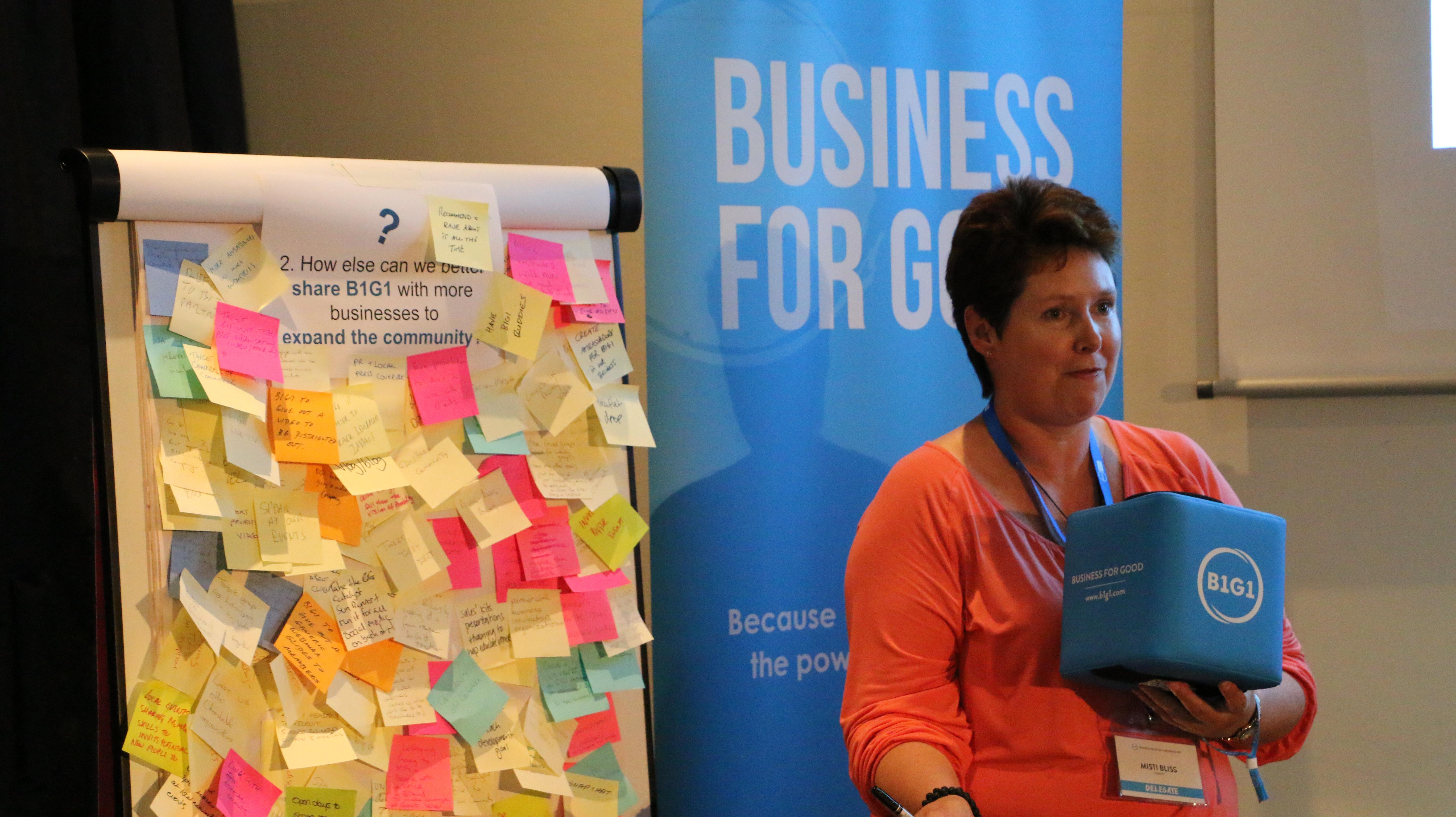 b1g1 conference sticky notes