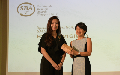 The Straits Times: Firm's 'small giving' wins big at business awards