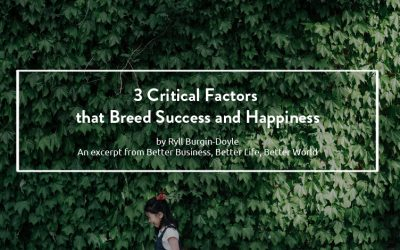 Three Critical Factors that Breed Success and Happiness – Better Business, Better Life, Better World