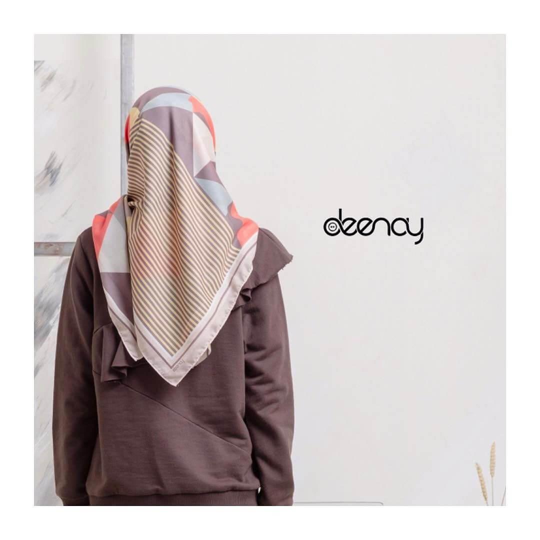 Contoh Desain Hijab Printing - Voal Motif