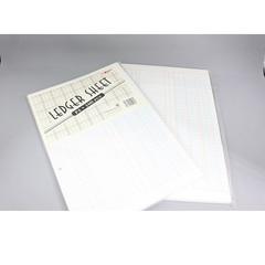 POWERLINE Ledger Sheet 100 Sheets 3 Column