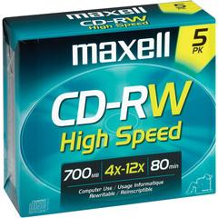 MAXELL CD-RW 700MB / 80MIN 4x-10x High Speed