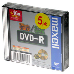 MAXELL DVD-R 4.7GB 1-16x