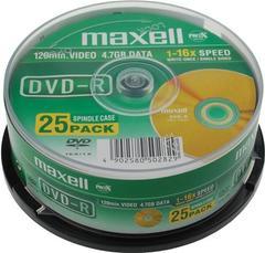 MAXELL DVD-R 47GB 1-16x (25 PCS / DRUM)