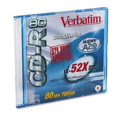 VERBATIM CD-R Datalife 1x-52x 80MIN 700MB (94521 / 62612)