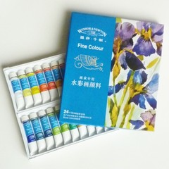 WATER COLOUR 10ML 24'S WINSOR & NEWTON